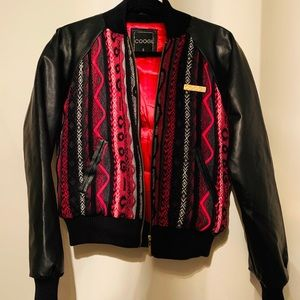 COOGI Faux Leather Bomber Jacket (Small)